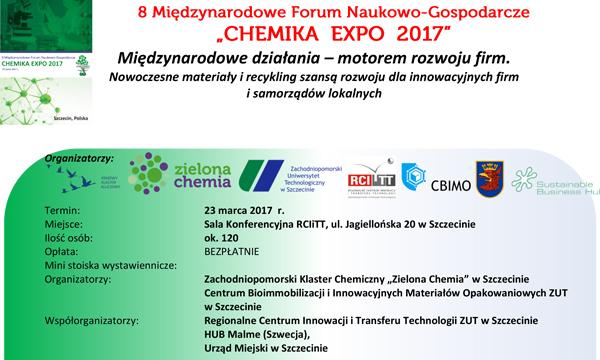 Forum Naukowo-Gospodarcze CHEMIKA EXPO 2017