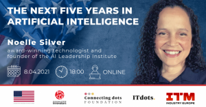 Jaka jest przyszłość sztucznej inteligencji? – spotkanie online z Noelle Silver